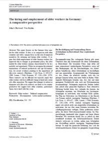 "zum direkten Download der Publikation ""The hiring and employment of older workers in Germany: A comparative perspective"""