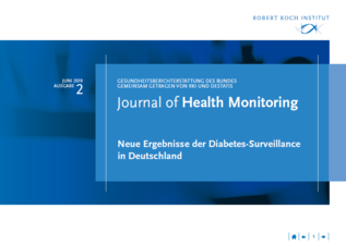 "Coverbild zum Journal of Health Monitoring ""Neue Ergebnisse der Diabetes-Surveillance in Deutschland""   (verweist auf: Neue Ergebnisse der Diabetes-Surveillance in Deutschland)"